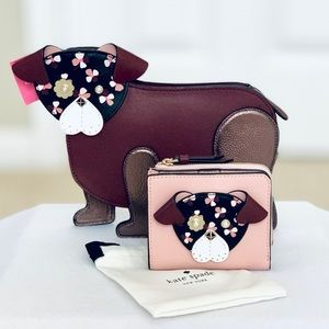 Kate Spade Floral Pup Crossbody and Bifold Wallet